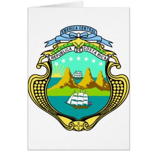 CR del escudo de armas de Costa Rica Tarjetón