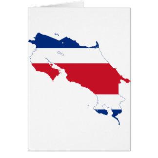 CR del mapa de la bandera de Costa Rica Tarjeton