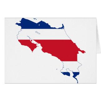 CR del mapa de la bandera de Costa Rica Tarjeta De Felicitación