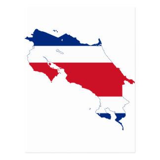 CR del mapa de la bandera de Costa Rica Tarjetas Postales