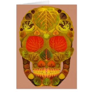 Cráneo 12 de la hoja de Aspen Tarjeta De Felicitación