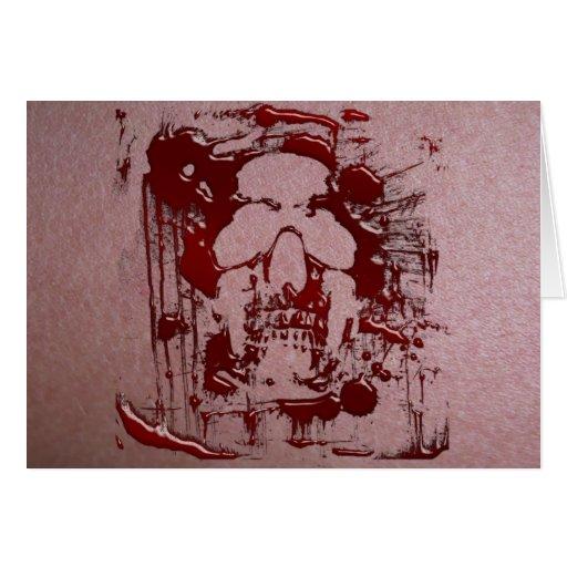 Cráneo #2 de la sangre felicitacion