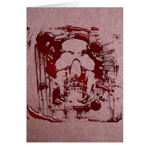 Cráneo #2 de la sangre tarjeton