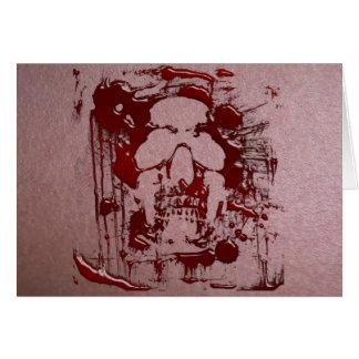 Cráneo #2 de la sangre tarjeta de felicitación