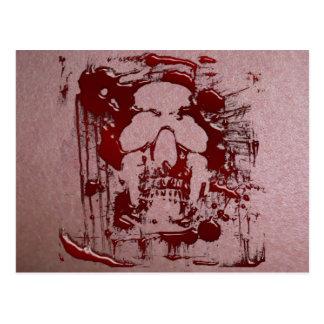 Cráneo 2 de la sangre tarjetas postales