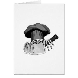 Cráneo 2 del cocinero tarjeta de felicitación