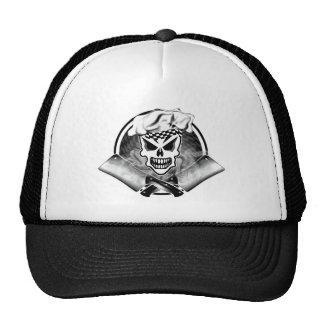 Cráneo 2 del cocinero y cuchillas cruzadas 2 gorras de camionero