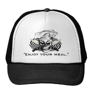 Cráneo 4 del cocinero gorra