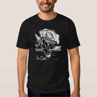 Cráneo 5 del cocinero camisetas