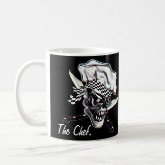 Cráneo 5 del cocinero taza de café