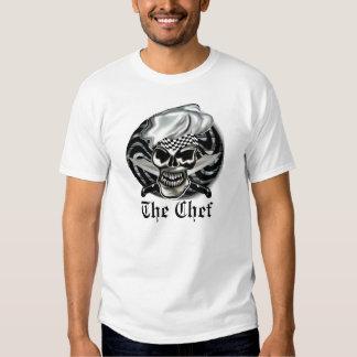 Cráneo 8 del cocinero camiseta