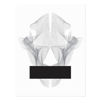 Cráneo abstracto del oso postal