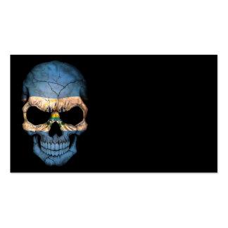 Cráneo adaptable de la bandera de El Salvador Tarjetas De Visita
