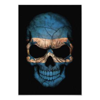 Cráneo adaptable de la bandera de Honduras Invitación 8,9 X 12,7 Cm