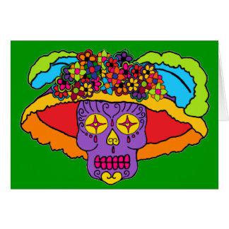 Cráneo adaptable del azúcar de Catrina Tarjeta De Felicitación