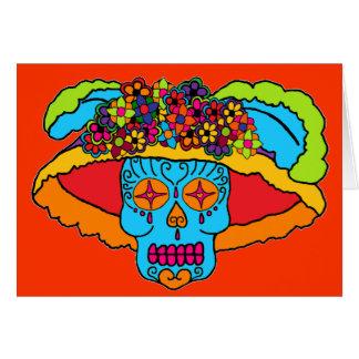 Cráneo adaptable del azúcar de Catrina Tarjetón