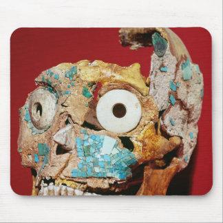 Cráneo adornado con un mosaico en turquesa alfombrilla de ratón