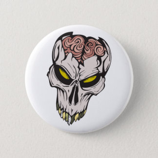 cráneo agrietado del cerebro chapa redonda de 5 cm