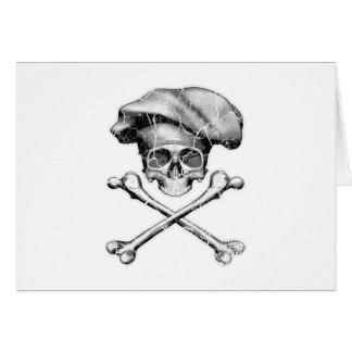 Cráneo apenado del cocinero tarjeta de felicitación