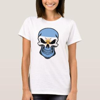 Cráneo argentino de la bandera camiseta