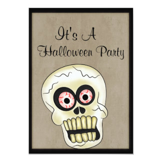 Cráneo asustadizo Halloween Invitación 12,7 X 17,8 Cm
