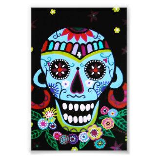 Cráneo Azteca de Dia de los Muertos Native Arte Con Fotos