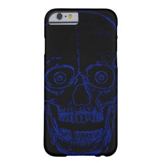 Cráneo azul del demonio del cráneo de Skully Funda Barely There iPhone 6