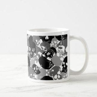 Cráneo Black&White Taza De Café