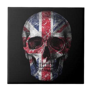Cráneo BRITÁNICO de la bandera Azulejo