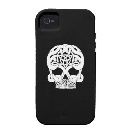 Cráneo céltico solo iPhone 4/4S carcasa