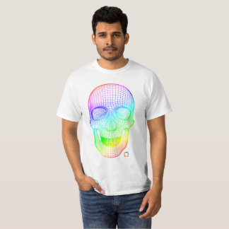 Cráneo coloreado 3D Camiseta