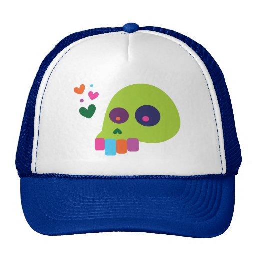 Cráneo colorido del arco iris gorro de camionero