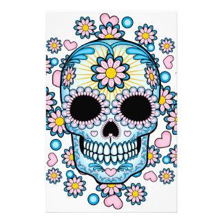 Cráneo colorido del azúcar papeleria