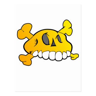 Cráneo cómico postal