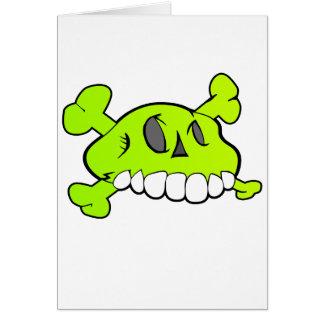 Cráneo cómico tarjeta de felicitación
