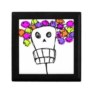 cráneo con las flores caja de regalo