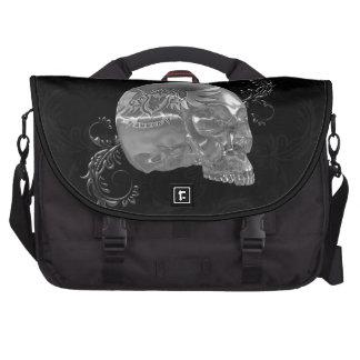 Cráneo cristalino #1 bolsas para ordenador