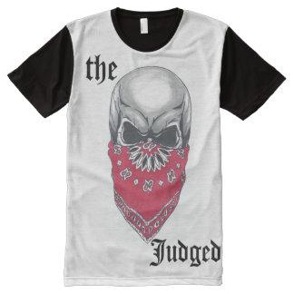 Cráneo de Banadana de los hombres por todo la Camisetas Con Estampado Integral