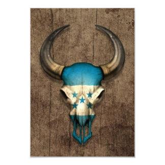 Cráneo de Bull de la bandera de Honduras en el Invitación 8,9 X 12,7 Cm