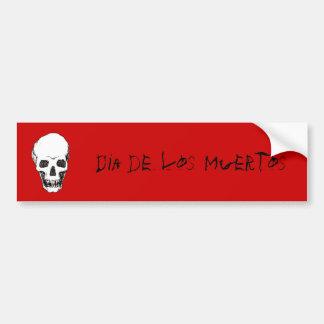 Cráneo de Dia de los Muertos Pegatina Para Coche