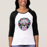 Cráneo de Dia de los Muertos Sugar Camisetas