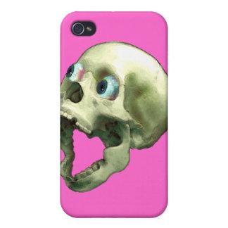 Cráneo de griterío gótico II extraño iPhone 4 Carcasa