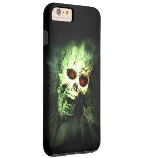 Cráneo de griterío Halloween del zombi Funda De iPhone 6 Plus Tough