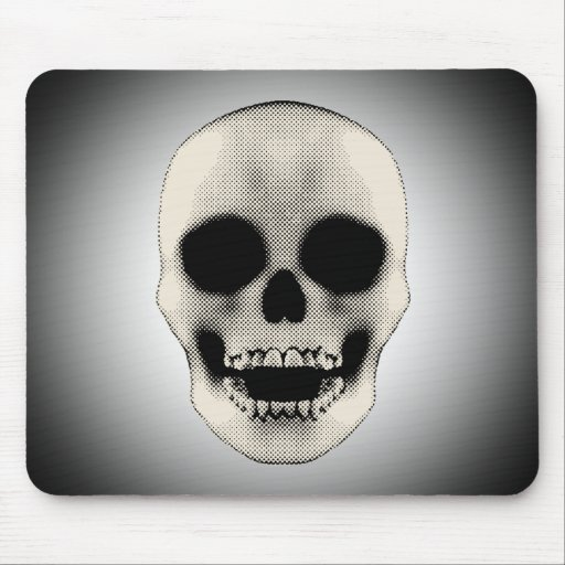 Cráneo de Haltone: Ilustraciones del vector: Mouse Tapete De Ratón