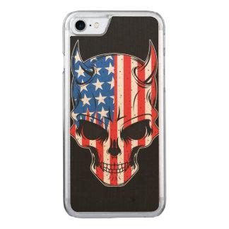 Cráneo de Hellion del americano Funda Para iPhone 8/7 De Carved