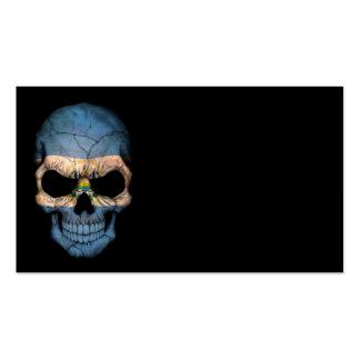 Cráneo de la bandera de El Salvador en negro