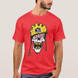 Cráneo de la bici de montaña camiseta