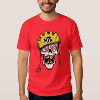 Cráneo de la bici de montaña camisetas
