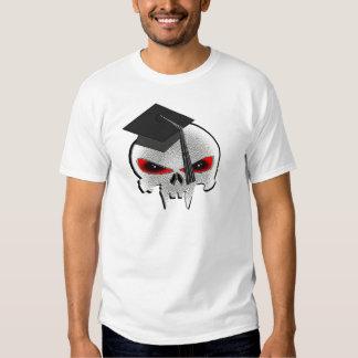 Cráneo de la graduación camiseta