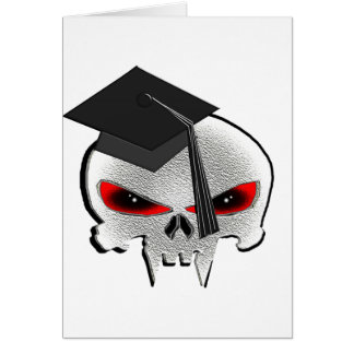Cráneo de la graduación tarjeta de felicitación